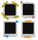 σύνολο polaroid εικόνων πλαισίω&nu διανυσματική απεικόνιση