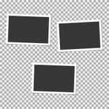 Σύνολο Polaroid πλαισίου φωτογραφιών με τη σκιά Διανυσματικό πρότυπο για την καθιερώνουσα τη μόδα φωτογραφία ή την εικόνα σας Ελεύθερη απεικόνιση δικαιώματος