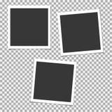 Σύνολο Polaroid πλαισίου φωτογραφιών με τη σκιά Διανυσματικό πρότυπο για την καθιερώνουσα τη μόδα φωτογραφία ή την εικόνα σας Απεικόνιση αποθεμάτων