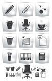 Σύνολο PrintVector εικονιδίου γραφείων. πολυθρόνα κουμπιών Στοκ Εικόνες