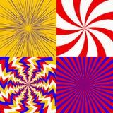 Σύνολο psychedelic σπείρας απεικόνιση αποθεμάτων