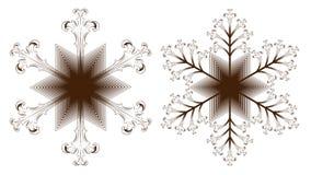 Σύνολο snowflake εικονιδίου στοκ εικόνες με δικαίωμα ελεύθερης χρήσης