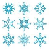 Σύνολο snowflake εικονιδίων που απομονώνονται στο άσπρο υπόβαθρο Στοιχείο σχεδίου για το έμβλημα, έμβλημα, σχέδιο κινήσεων Στοκ Φωτογραφία