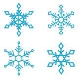 Σύνολο snowflake εικονιδίων που απομονώνονται στο άσπρο υπόβαθρο Στοιχείο σχεδίου για το έμβλημα, έμβλημα, σχέδιο κινήσεων Στοκ Εικόνα