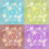 Σύνολο snowflake mandala υποβάθρου Στοκ Εικόνες