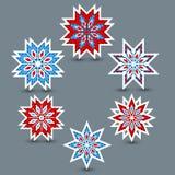 Σύνολο snowflakes Στοκ Εικόνες