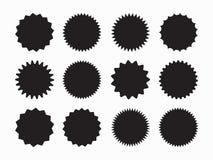 Σύνολο starburst, διακριτικά ηλιοφάνειας Ειδική ετικέττα πώλησης προσφοράς, ετικέτα τιμών προσφοράς έκπτωσης, σύμβολο για τη διαφ διανυσματική απεικόνιση