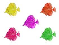 Σύνολο watercolor ψαριών θάλασσας απεικόνιση αποθεμάτων