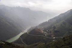 Σύνορα Βιετνάμ της Κίνας τοπίων βουνών στοκ εικόνες
