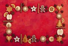 Σύνορα κέικ Χριστουγέννων Στοκ εικόνα με δικαίωμα ελεύθερης χρήσης