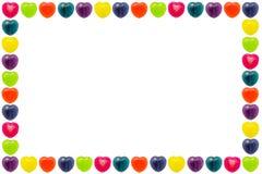 Σύνορα καραμελών καρδιών Στοκ εικόνες με δικαίωμα ελεύθερης χρήσης
