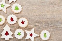 Σύνορα μπισκότων Χριστουγέννων Στοκ φωτογραφία με δικαίωμα ελεύθερης χρήσης
