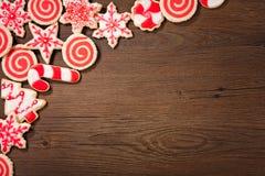 Σύνορα μπισκότων Χριστουγέννων Στοκ Εικόνα