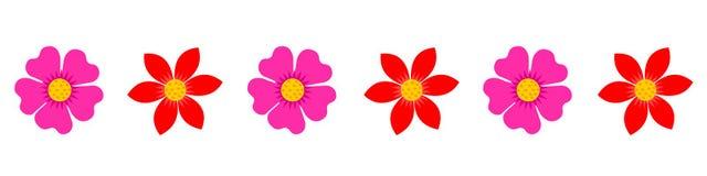 Σύνορα λουλουδιών, επιγραφή, υποσημείωση, υπόβαθρο Στοκ φωτογραφία με δικαίωμα ελεύθερης χρήσης