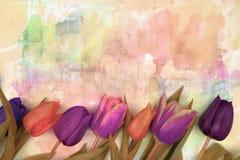 Σύνορα πλαισίων λουλουδιών απεικόνιση αποθεμάτων