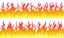 Σύνορα πλαισίων φλογών πυρκαγιάς διανυσματική απεικόνιση