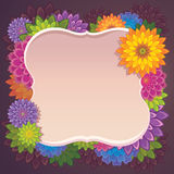 Σύνορα πλαισίων χρώματος φθινοπώρου Στοκ εικόνες με δικαίωμα ελεύθερης χρήσης