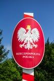 Σύνορα της Πολωνίας και στιλβωτικής ουσίας Στοκ Εικόνες