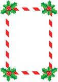 Σύνορα της Holly Χριστουγέννων Στοκ Εικόνα