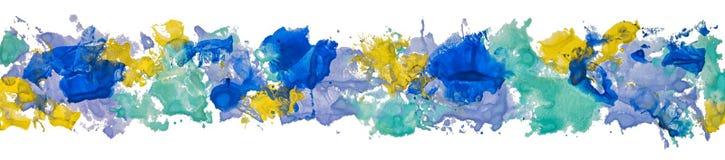 Σύνορα του ONG του χεριού watercolor γκουας που σύρεται Στοκ Εικόνες