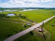 Σύνορα του Tatar και από το $λ* ψασχκηρ κράτους εναέρια όψη Στοκ φωτογραφίες με δικαίωμα ελεύθερης χρήσης