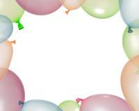 Σύνορα των διογκωμένων μπαλονιών από τα διαφορετικά χρώματα Στοκ Φωτογραφίες