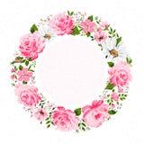 Σύνορα των λουλουδιών με τη θέση για ένα κείμενο Στοκ Εικόνες