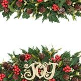 Σύνορα υποβάθρου Χριστουγέννων Στοκ Φωτογραφίες