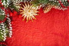Σύνορα Χριστουγέννων στοκ φωτογραφία με δικαίωμα ελεύθερης χρήσης