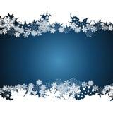 Σύνορα Χριστουγέννων, snowflake υπόβαθρο σχεδίου ελεύθερη απεικόνιση δικαιώματος