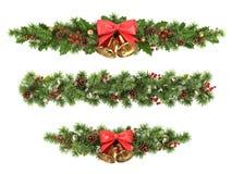 Σύνορα χριστουγεννιάτικων δέντρων. Στοκ φωτογραφία με δικαίωμα ελεύθερης χρήσης