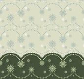 Σύνορα Christmassy με τη γιρλάντα και snowflakes Απεικόνιση αποθεμάτων