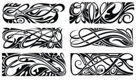 σύνορα floral Σχέδιο κόμβων Ύφος κελτικού και deco τέχνης διανυσματική απεικόνιση