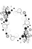 σύνορα floral Στοκ εικόνα με δικαίωμα ελεύθερης χρήσης