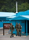 Σύνορα JSA DMZ Βόρεια και Νότια Κορέα Στοκ φωτογραφία με δικαίωμα ελεύθερης χρήσης