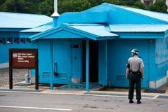 Σύνορα JSA DMZ Βόρεια και Νότια Κορέα Στοκ Εικόνες