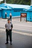 Σύνορα JSA DMZ Βόρεια και Νότια Κορέα Στοκ εικόνα με δικαίωμα ελεύθερης χρήσης