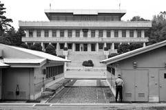 Σύνορα JSA DMZ Βόρεια και Νότια Κορέα Στοκ Φωτογραφίες