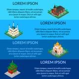 Σύνολα θρησκευτικών κτηρίων Στοκ εικόνες με δικαίωμα ελεύθερης χρήσης