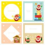Σύνολα καρτών πρόσκλησης Χριστουγέννων Στοκ Φωτογραφία