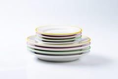 Σύνολα πιάτων γευμάτων Στοκ Φωτογραφία