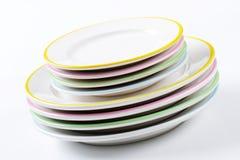 Σύνολα πιάτων γευμάτων Στοκ Εικόνες