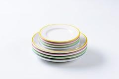 Σύνολα πιάτων γευμάτων Στοκ φωτογραφίες με δικαίωμα ελεύθερης χρήσης