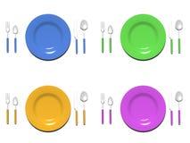 Σύνολα πιάτων Στοκ εικόνα με δικαίωμα ελεύθερης χρήσης