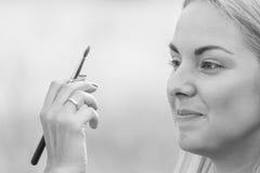 Σύνοδος Makeup στη φύση Στοκ Εικόνες