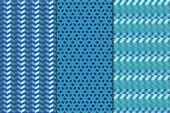 Σύνολο Άνευ ραφής γεωμετρικά αφηρημένα σχέδια Στοκ εικόνα με δικαίωμα ελεύθερης χρήσης