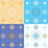 Σύνολο άνευ ραφής γεωμετρικών σχεδίων Στοκ Φωτογραφία