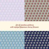 Σύνολο άνευ ραφής λουλουδιών σχεδίων Στοκ Φωτογραφίες