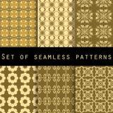 Σύνολο άνευ ραφής σχεδίων με τις γεωμετρικές μορφές Το σχέδιο για την ταπετσαρία, τα κεραμίδια, τα υφάσματα και τα σχέδια διανυσματική απεικόνιση