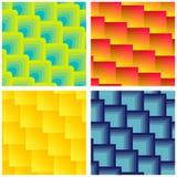 Σύνολο άνευ ραφής τετραγωνικών σχεδίων Στοκ εικόνα με δικαίωμα ελεύθερης χρήσης
